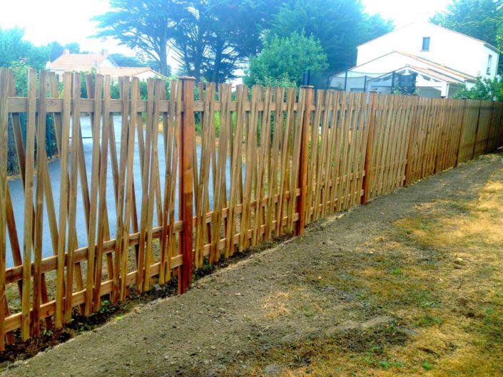pornic clôture papyrus en bois 44 paysagiste Maxime Richeuw