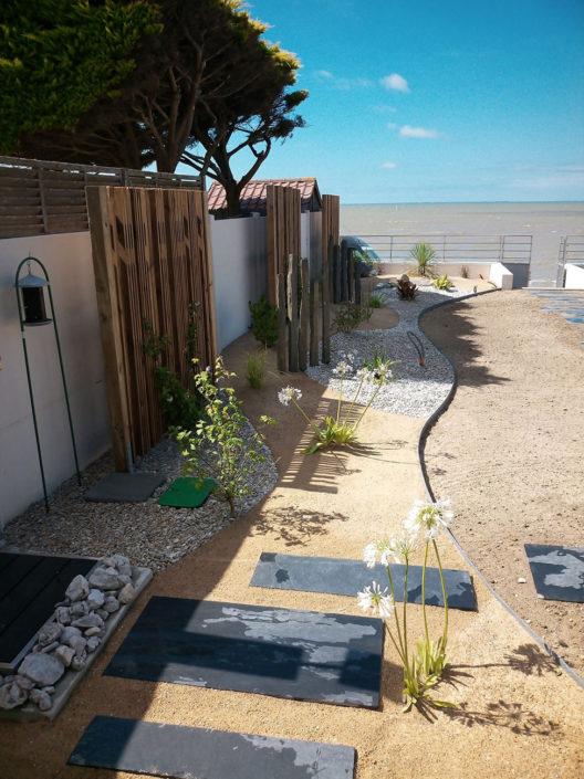 Création jardin côte de jade - accès mer 44