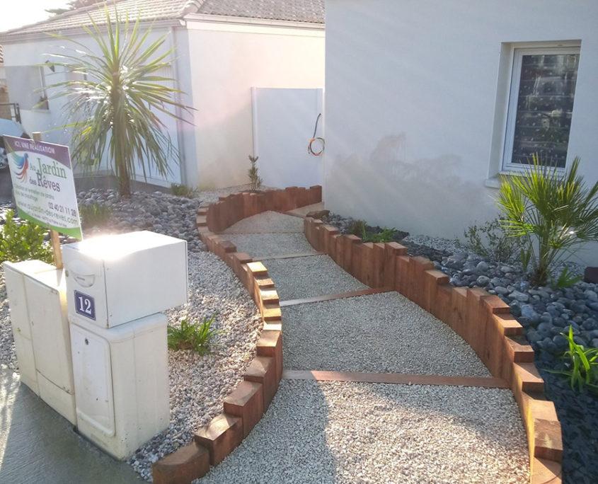 Aménagement jardin paysagiste Pornic La Plaine sur mer