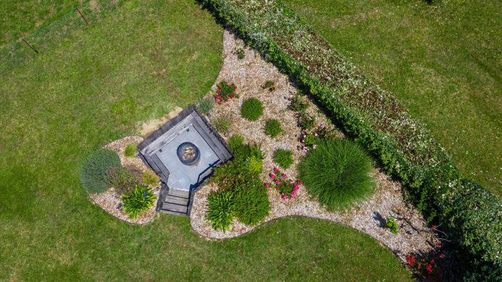 Au Jardin des Rêves paysagiste Pornic Terrasse enterrée Vue du drone