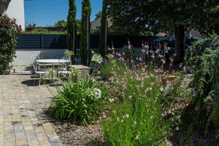 Au Jardin des Rêves - Terrasse en pavage - Plantations paysagiste