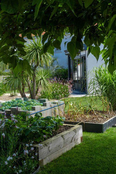 Nantes paysagiste Pornic carré potager bois Au Jardin des Rêves