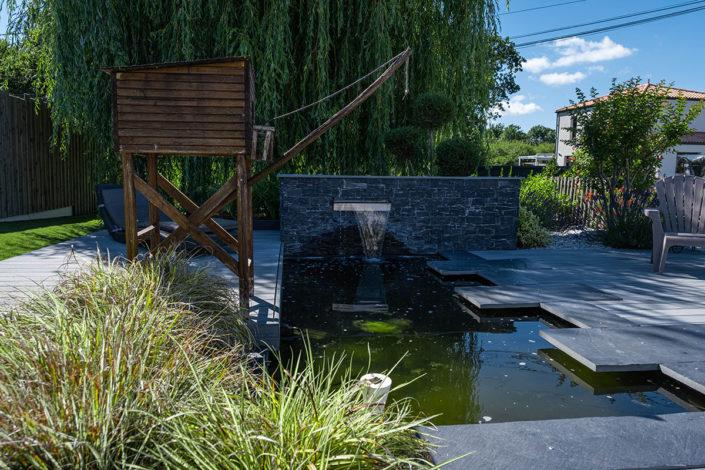 Paysagiste Pornic : Bassin - Terrasse en composite Au Jardin des Rêves