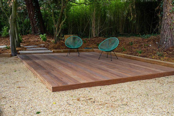 Pornic paysagiste terrasse bois exotique Cumaru - Au Jardin des Rêves